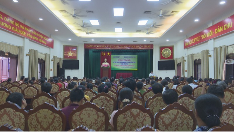 Khai giảng lớp đào tạo nghề cho lao động nông thôn năm 2018