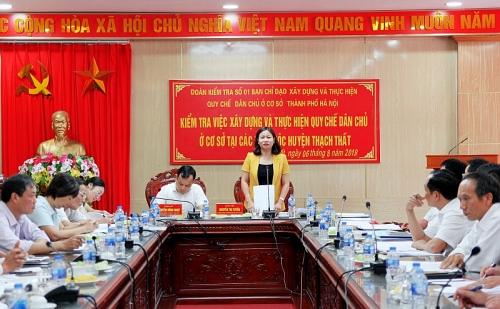 Kiểm tra việc xây dựng và thực hiện Quy chế dân chủ ở cơ sở tại huyện Thạch Thất