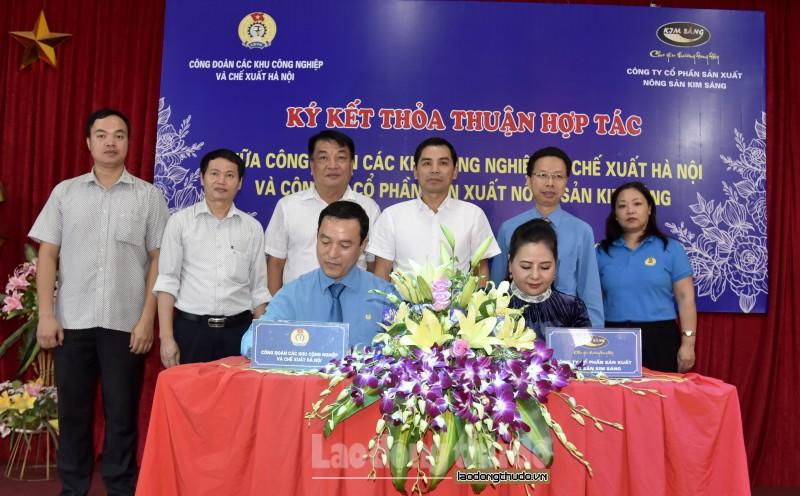 Ký kết thỏa thuận hợp tác với Công ty Cổ phần sản xuất nông sản Kim Sáng