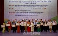 Hà Nội: Tôn vinh 25 tập thể, cá nhân tiêu biểu trong lĩnh vực nông nghiệp