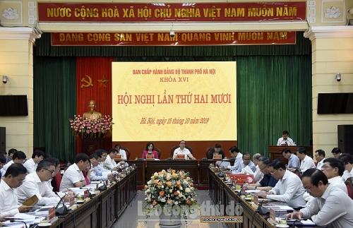 Khai mạc Hội nghị Ban Chấp hành Đảng bộ thành phố Hà Nội lần thứ XX