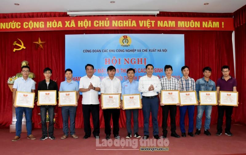 Khen thưởng 61 thí sinh tham gia Hội thi thợ giỏi thành phố Hà Nội năm 2019