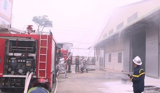 Diễn tập phương án phòng cháy, chữa cháy và cứu nạn, cứu hộ