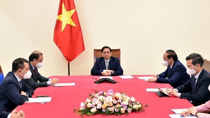 Thủ tướng Phạm Minh Chính điện đàm với Đặc phái viên của Tổng thống Hoa Kỳ về biến đổi khí hậu