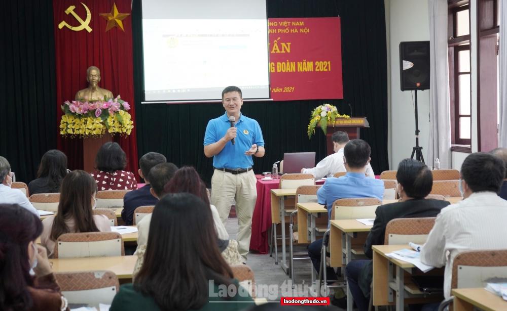 LĐLĐ thành phố Hà Nội tổ chức tập huấn công tác Tuyên giáo Công đoàn năm 2021