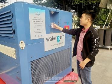 Hà Nội: Tiện ích máy lọc nước uống từ không khí
