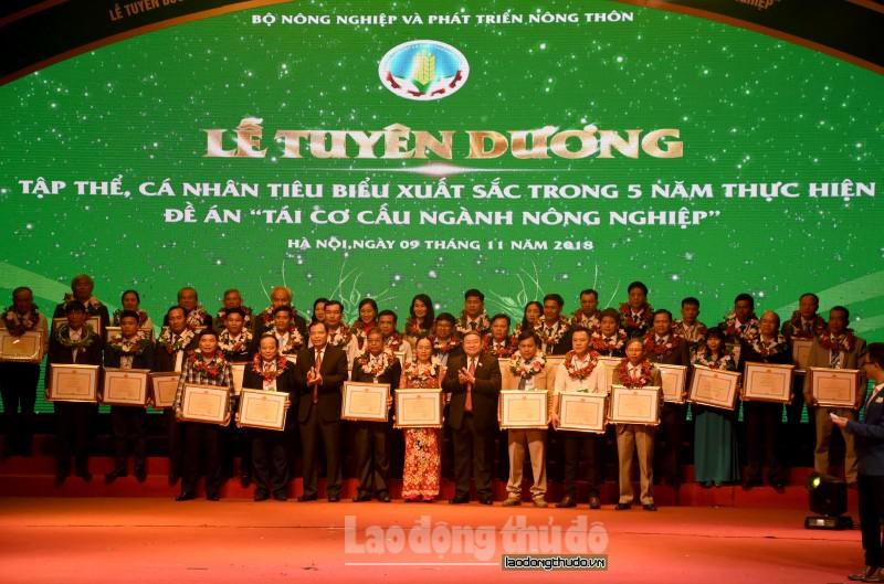 """45 tập thể, cá nhân tiêu biểu nhận giải thưởng """"Bông lúa vàng Việt Nam"""" lần thứ III"""