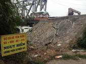 Chân cầu Đuống xuất hiện nhiều vết nứt cần có biện pháp khắc phục