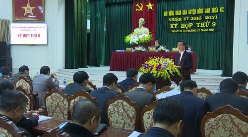 Tổ chức thành công Kỳ họp thứ 9 HĐND huyện Đông Anh khóa 19