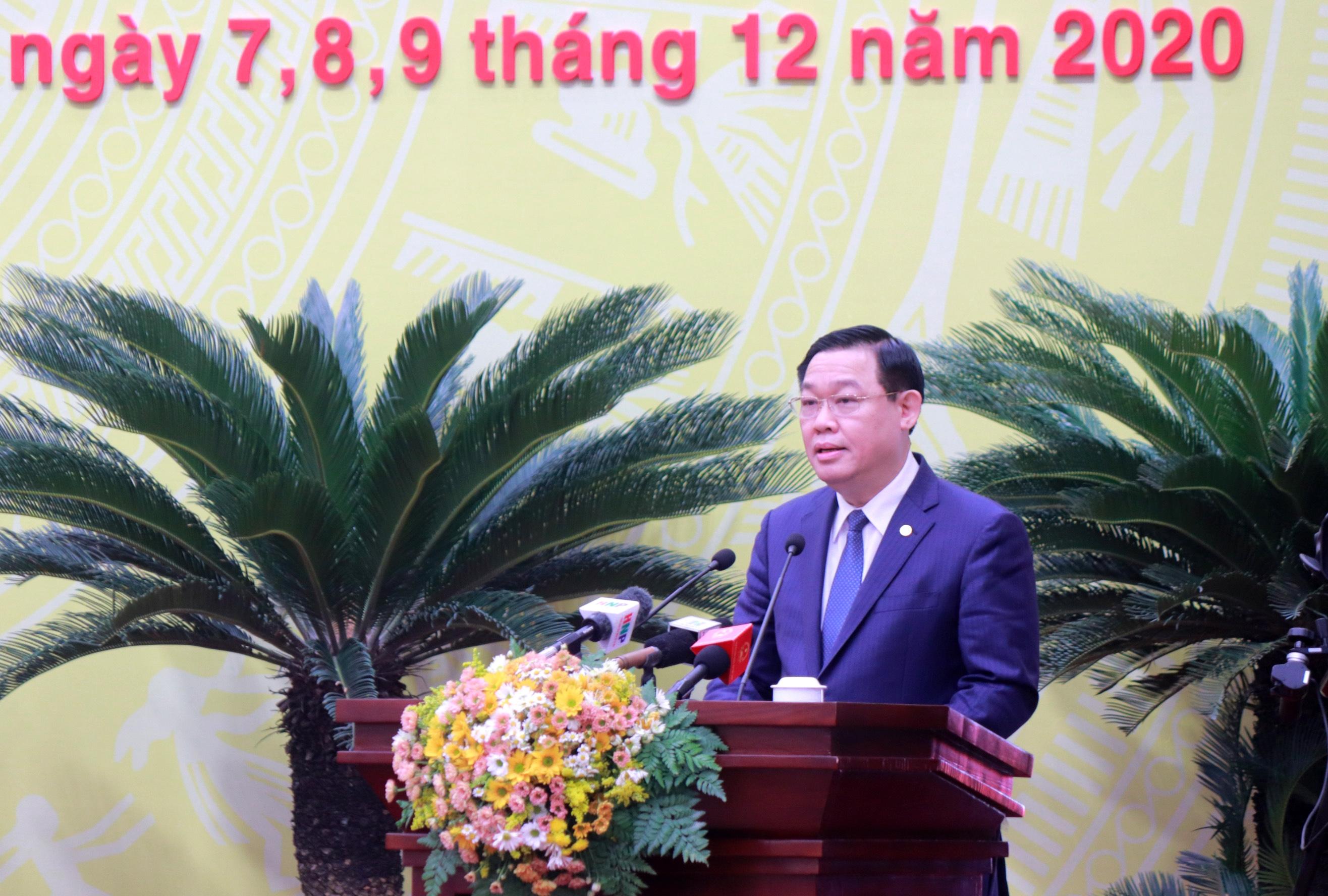 Bí thư Thành ủy Hà Nội Vương Đình Huệ: Tạo những chuyển biến căn bản trên mọi lĩnh vực ngay trong năm 2021