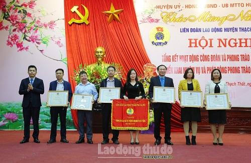 LĐLĐ huyện Thạch Thất tổng kết hoạt động công đoàn năm 2019