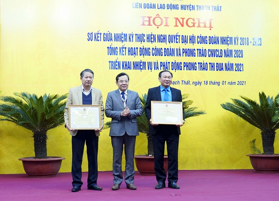 Liên đoàn Lao động huyện Thạch Thất: Nhiều hoạt động thiết thực hỗ trợ đoàn viên, người lao động