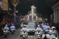 Nhà lãnh đạo Triều Tiên Kim Jong Un về đến Hà Nội