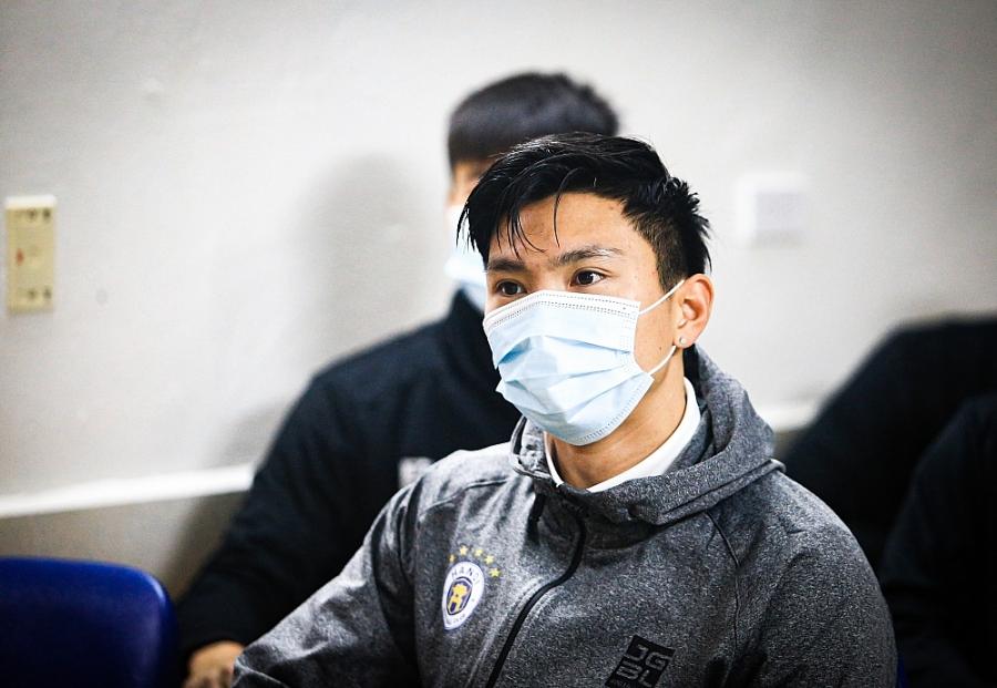 Hà Nội FC test Covid-19 trong ngày hội quân