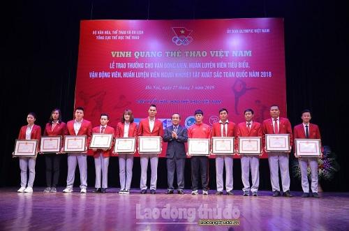 Quang Hải, Đình Trọng được vinh danh tại chương trình 'Vinh quang Thể thao Việt Nam'