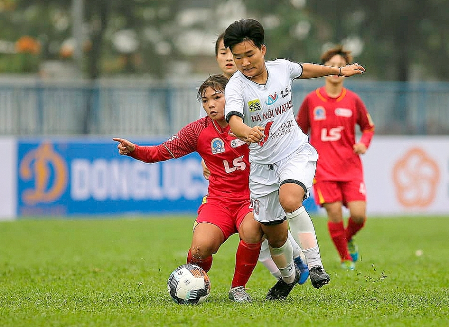 Giải bóng đá nữ Vô địch U19 Quốc gia 2021: Hà Nội Watabe bị chia điểm ở phút bù giờ