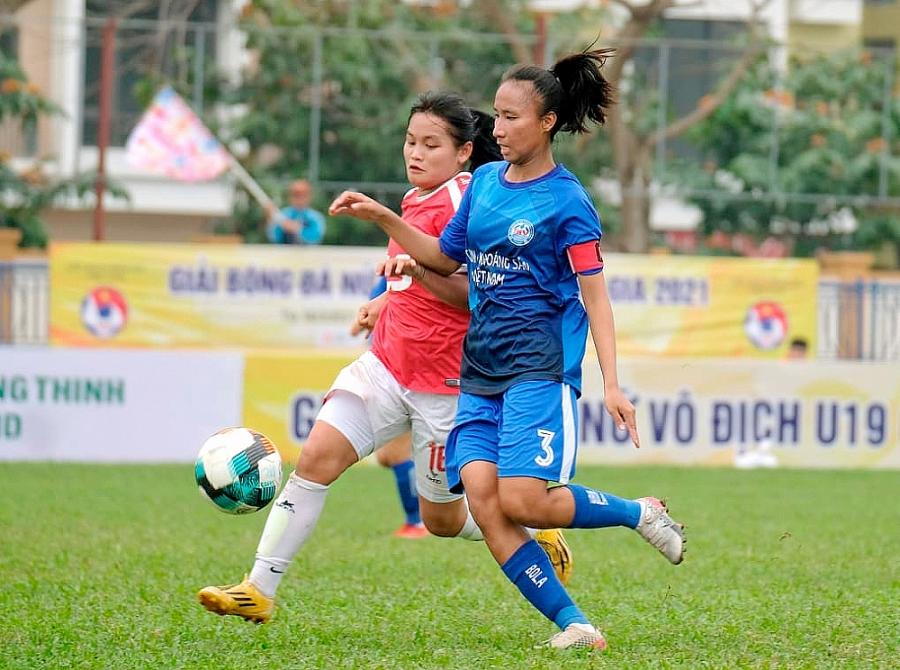 Giải bóng đá nữ Vô địch U19 Quốc gia: Than Khoáng sản Việt Nam vô địch lượt đi