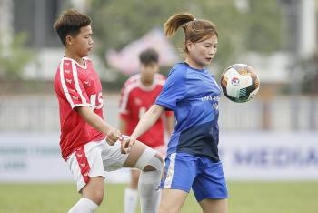 Giải bóng đá nữ Vô địch U19 Quốc gia 2021: Nhà vô địch Than Khoáng sản bị chia điểm