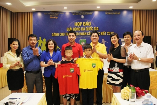 27 đội bóng tham dự Giải bóng đá quốc gia dành cho trẻ em có hoàn cảnh đặc biệt