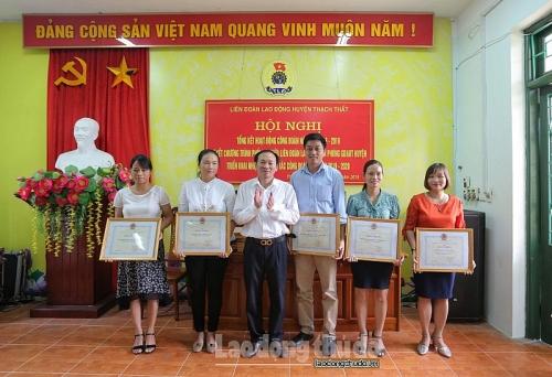 LĐLĐ huyện Thạch Thất nâng cao hiệu quả hoạt động công đoàn