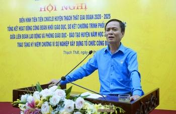 Liên đoàn lao động huyện Thạch Thất: Phát huy hiệu quả các phong trào thi đua