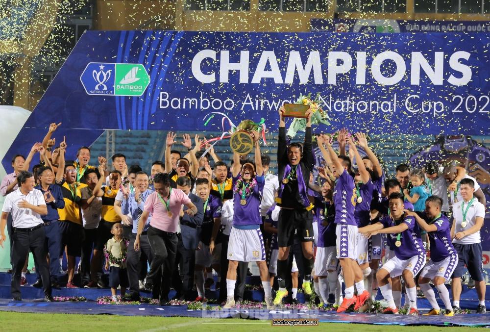 Đội vô địch Cúp Quốc gia 2021 vẫn được nhận thưởng lớn dù ảnh hưởng dịch Covid-19