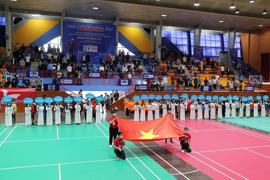 Hơn 800 vận động viên tranh tài tại Giải Cầu lông Học sinh – Sinh viên TP Hà Nội năm 2020