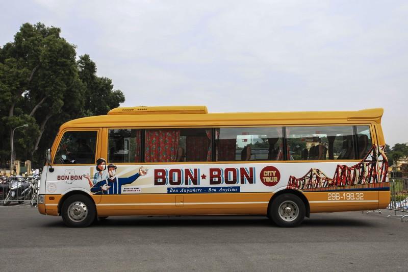 """Cận cảnh chiếc xe """"Hop on - hop off"""" mới ra mắt ở Hà Nội"""