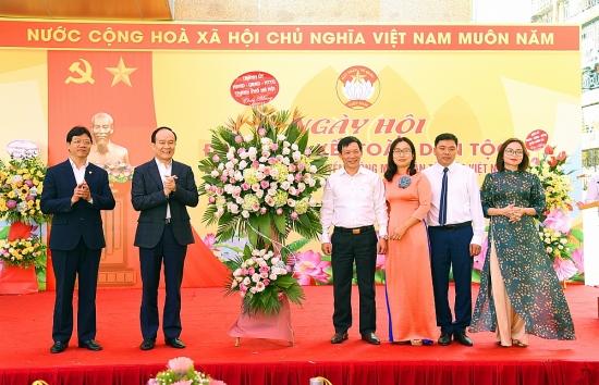 Phó Bí thư Thành ủy Nguyễn Ngọc Tuấn dự Ngày hội Đại đoàn kết toàn dân tộc tại Đống Đa