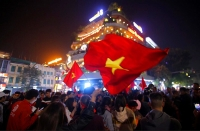 Hà Nội tưng bừng sau chiến thắng của U22 Việt Nam