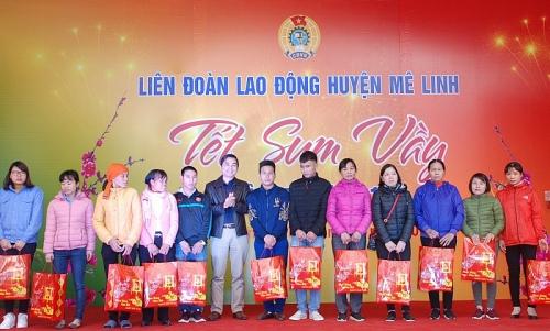 """LĐLĐ huyện Mê Linh , ấm áp""""Tết sum vầy năm 2019"""""""