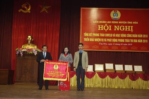LĐLĐ huyện Ứng Hòa: Hoàn thành xuất sắc mọi lĩnh vực công tác năm 2018
