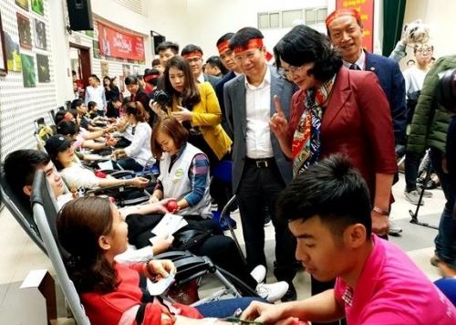 Hàng nghìn người đã hiến máu ở lễ hội Xuân hồng 2019