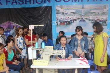 Gần 200 đoàn viên thanh niên và hội viên phụ nữ tham gia ngày hội việc làm