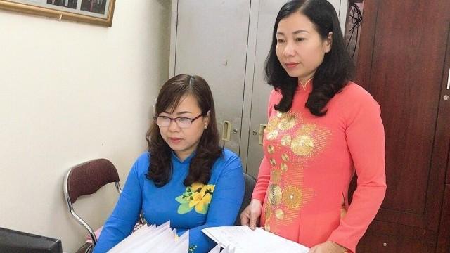 """Nữ CNVCLĐ huyện Ứng Hòa tích cực hưởng ứng """"Tuần lễ Áo dài Việt Nam"""""""
