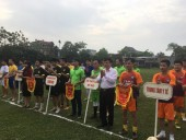 Sôi nổi giải bóng đá CNVC- LLVT năm 2017