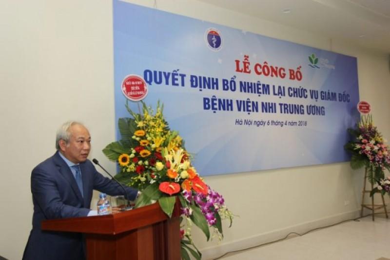 Lễ công bố Quyết định bổ nhiệm lại chức vụ Giám đốc Bệnh viện Nhi Trung ương