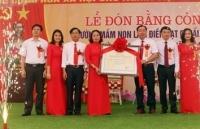Trường mầm non Lam Điềnnhận trường đạt chuẩn quốc gia