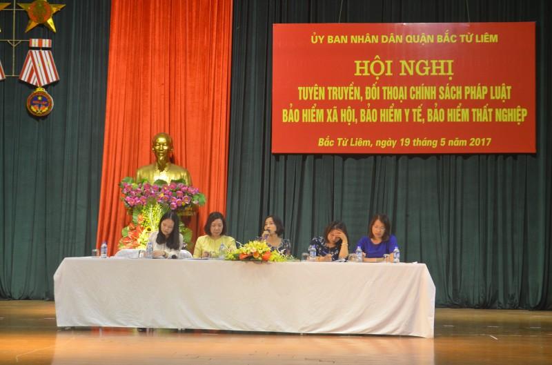Quận Bắc Từ Liêm: Đối thoại chính sách pháp luật bảo hiểm xã hội