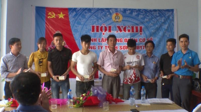 Thành lập công đoàn cơ sở Công ty TNHH Sơn Jubytex