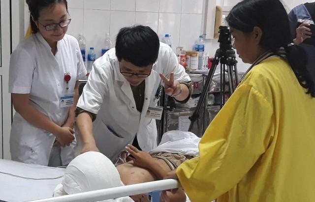 Thêm một bệnh nhân bị chó cắn bị tổn thương nghiêm trọng