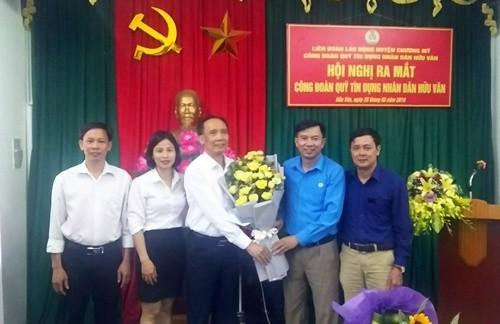 Thành lập công đoàn cơ sở Quỹ tín dụng nhân dân Hữu Văn
