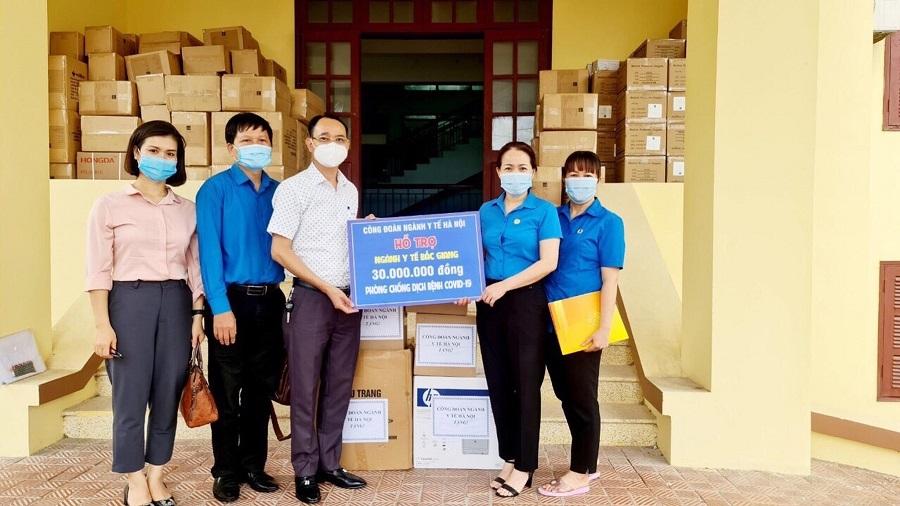 Công đoàn ngành Y tế Hà Nội hỗ trợ Công đoàn ngành Y tế tỉnh Bắc Giang