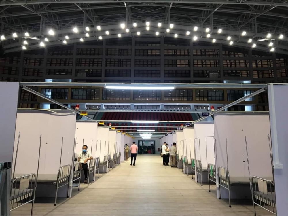 Bệnh viện dã chiến Nhà thi đấu tỉnh Bắc Giang đã hoàn thiện 99%