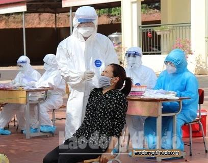Hà Nội thực hiện xét nghiệm Covid-19 cho 17.370 mẫu tại Lạng Giang