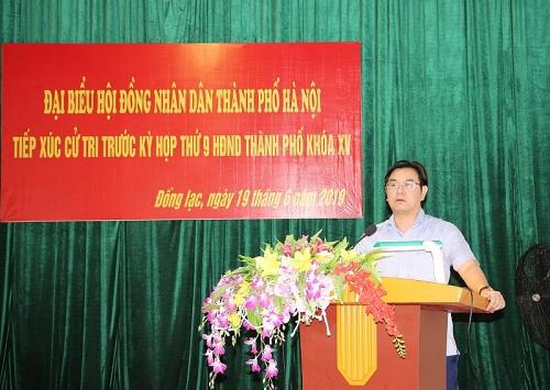 Tổ đại biểu HĐND TP Hà Nội: Tiếp xúc cử tri xã Đồng Lạc, huyện Chương Mỹ