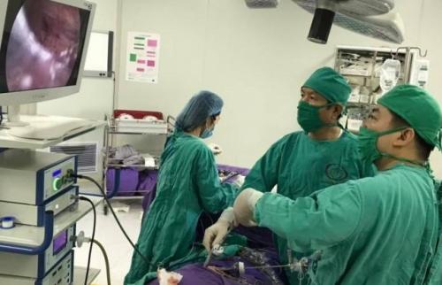 Phẫu thuật nội soi cắt thận trái thành công cho bệnh nhi 3 tuổi