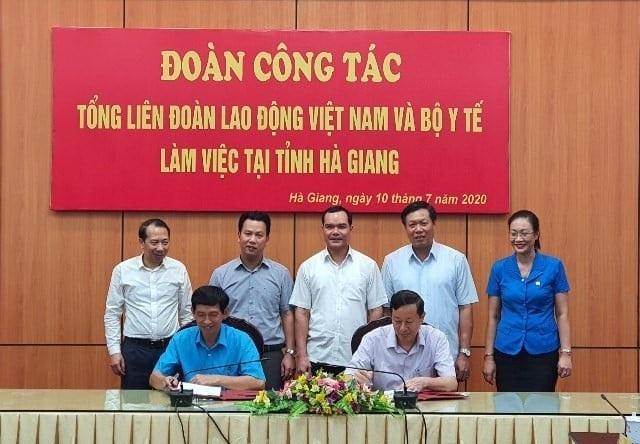 Tổng Liên đoàn Lao động Việt Nam và Bộ Y tế tăng cường hợp tác triển khai y tế cơ sở