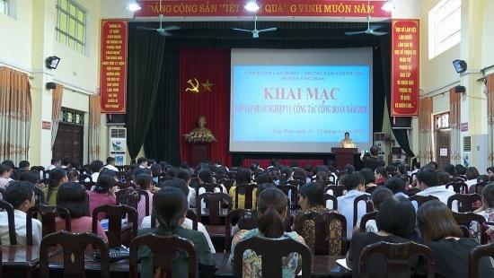 Liên đoàn Lao động huyện Ứng Hòa: Xây dựng tổ chức Công đoàn vững mạnh