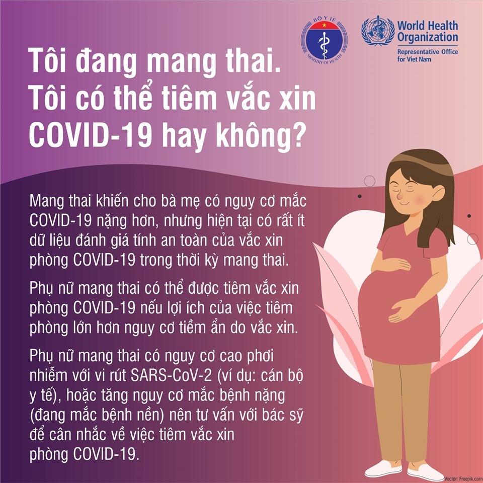 Đang cho con bú, mang thai hay có kinh nguyệt có nên tiêm vắc xin Covid-19?